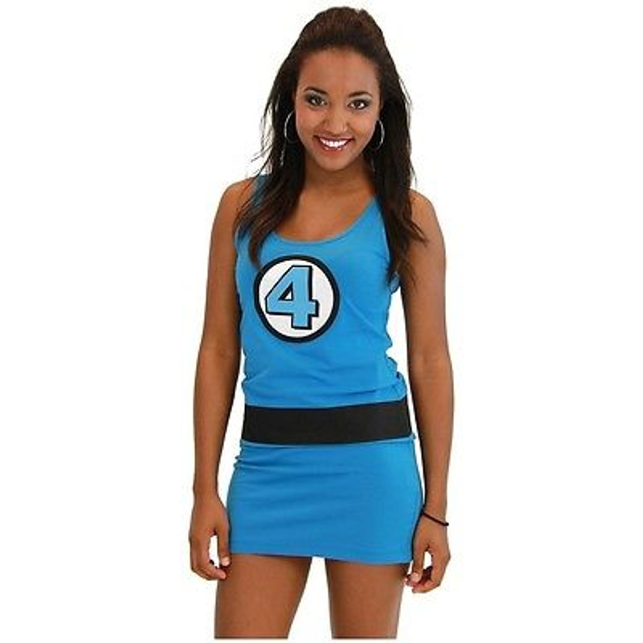 Authentic Fantastic 4 Sue Storm Marvel Comics Costume Juniors Tank Dress S-Xl