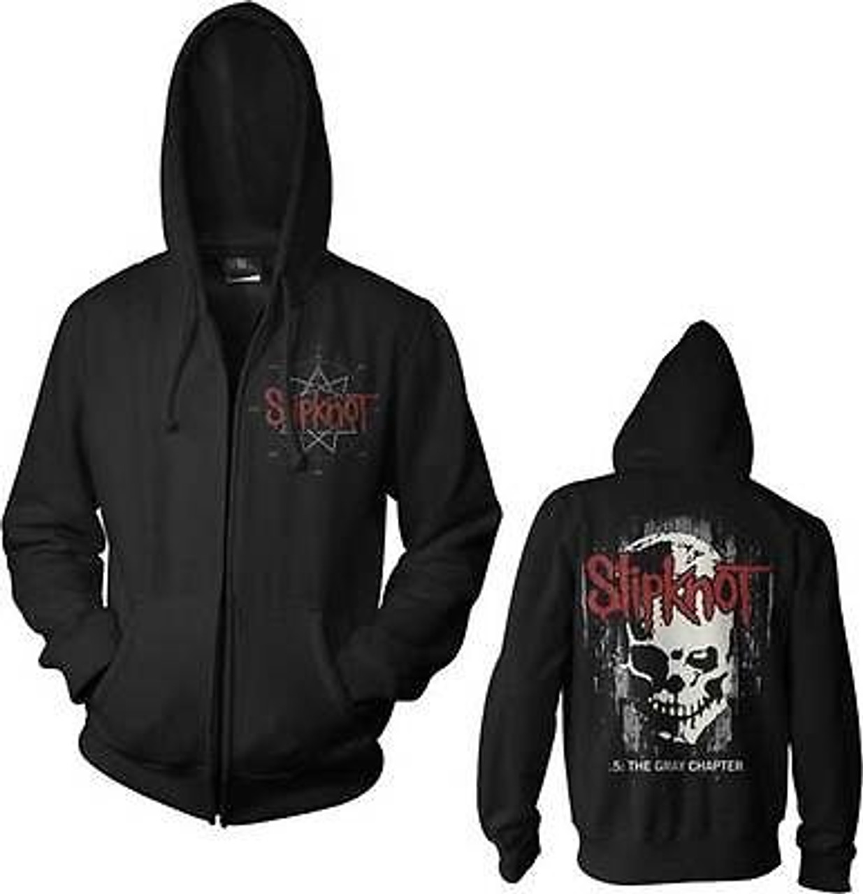 Slipknot Gray Chapter Pullover Heavy Metal Band Rock Hoodie Sweat Shirt S 2Xl