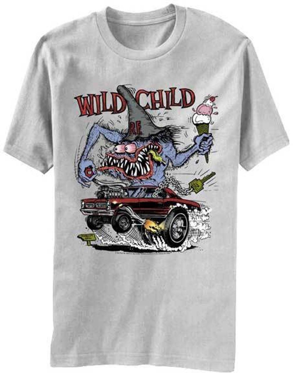 Hot Rod T Shirts >> Rat Fink Wild Child Ed Big Daddy Ross Kustom Kulture Hot Rod T Shirt Bd002ig