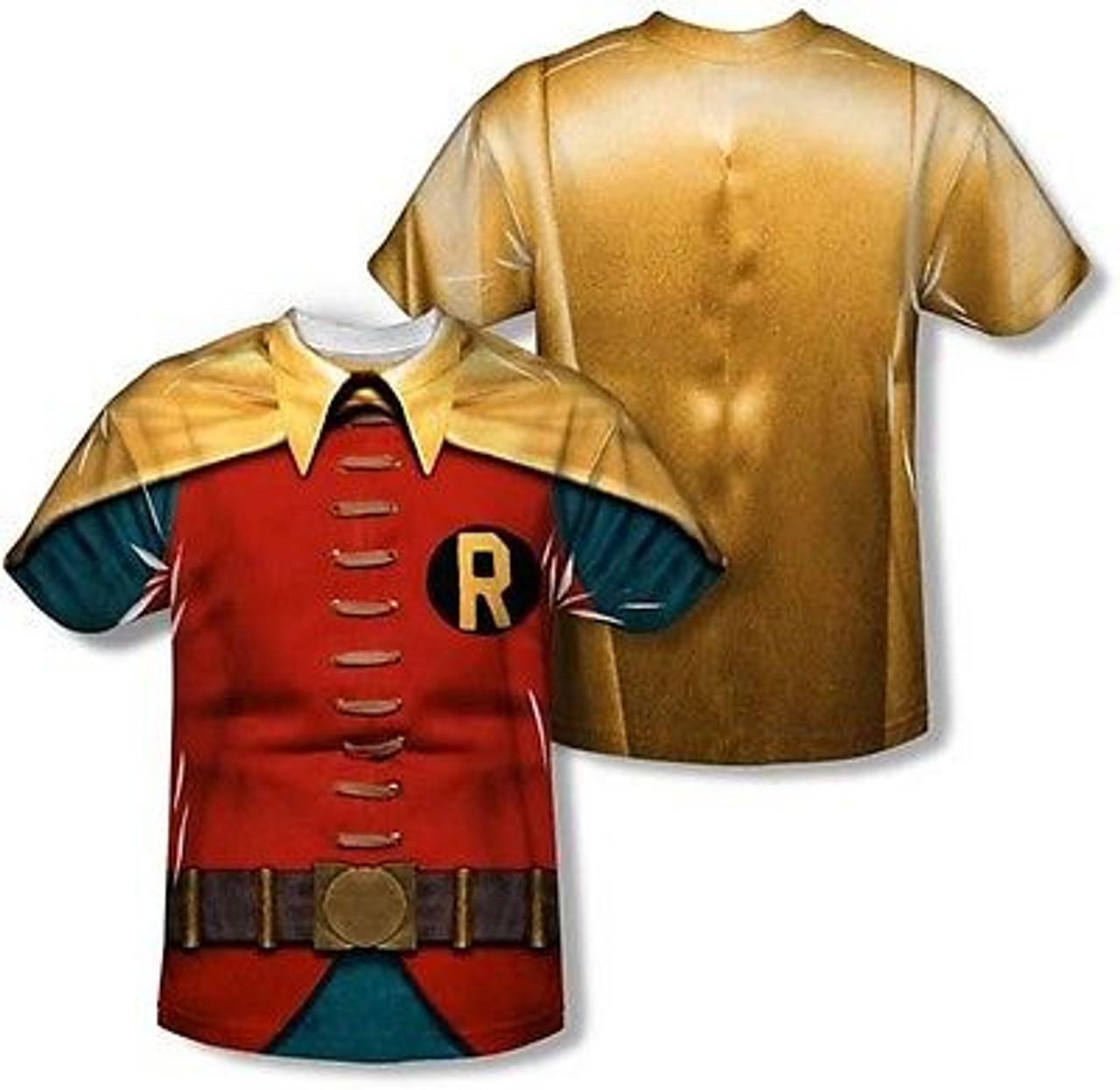cc58124f6 Robin Classic Batman Tv Sublimation Comics Costume Polyester 2 Sided Shirt  S-3Xl