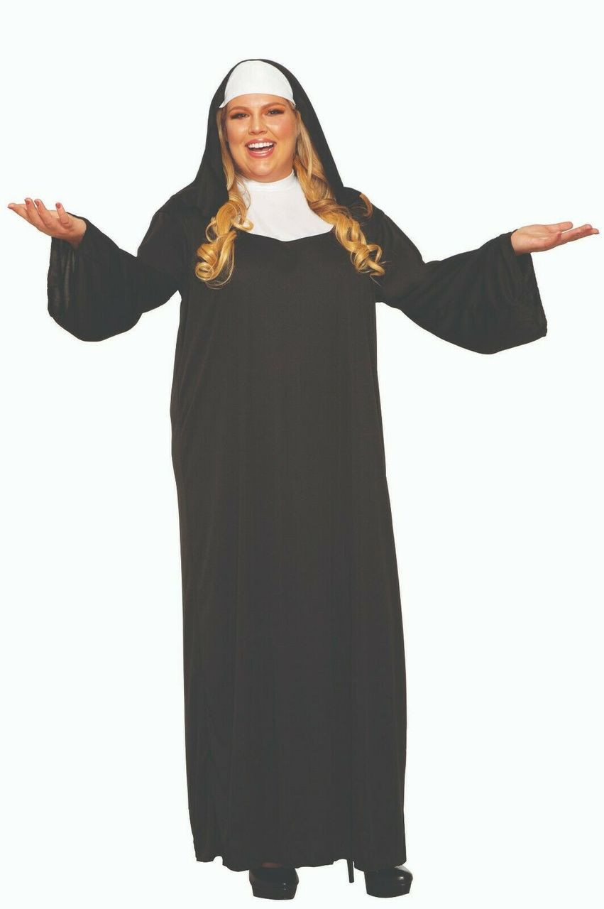 2257f4737af1 Forum Novelties Holy Religious Nun Adult Plus Size Halloween Costume 52716  - Fearless Apparel