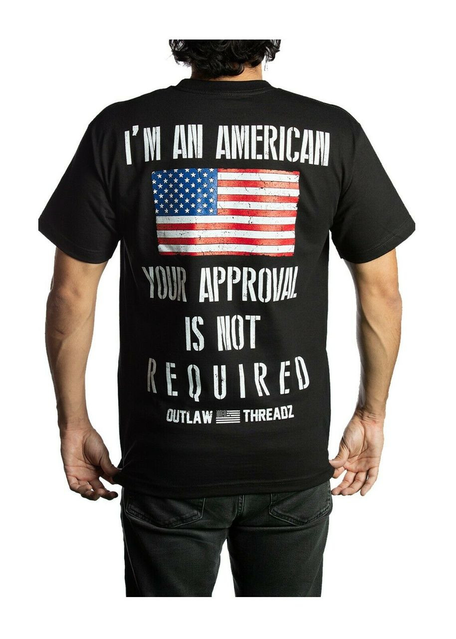 cd966ef7 Outlaw Threadz Unapologetic American Flag USA Patriotic Country T Shirt  MT159