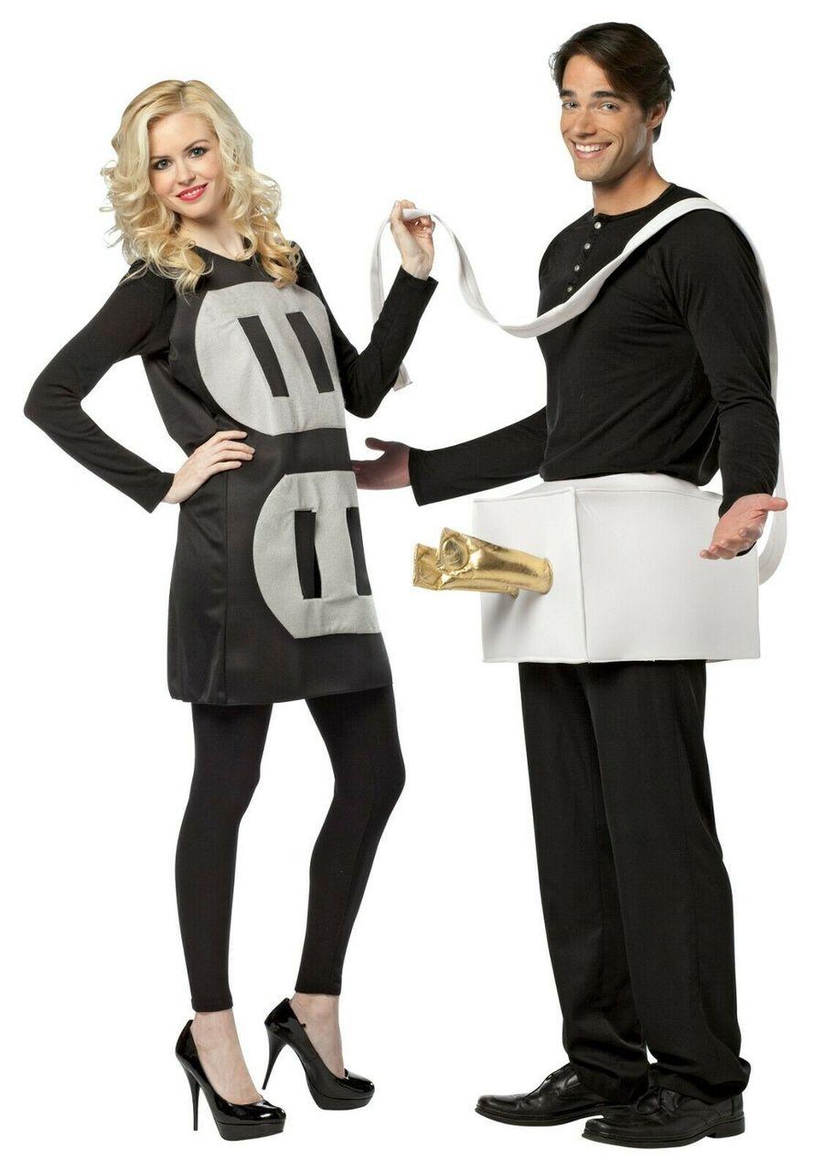 036138c48a8d Rasta Imposta Plug and Socket Lightweight Funny Couples Halloween Costume  GC7233