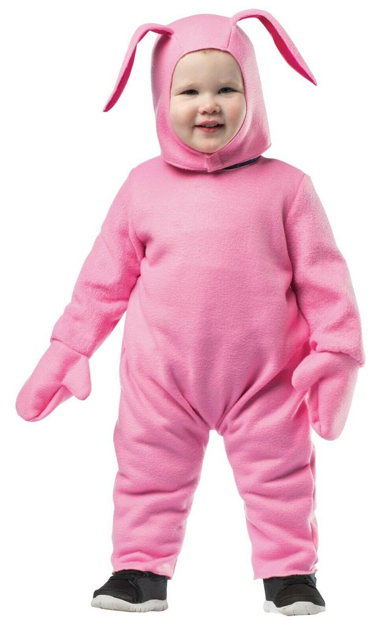 Hoodie Bunny Pink A Christmas Story Adult Costume Halloween Rasta Imposta