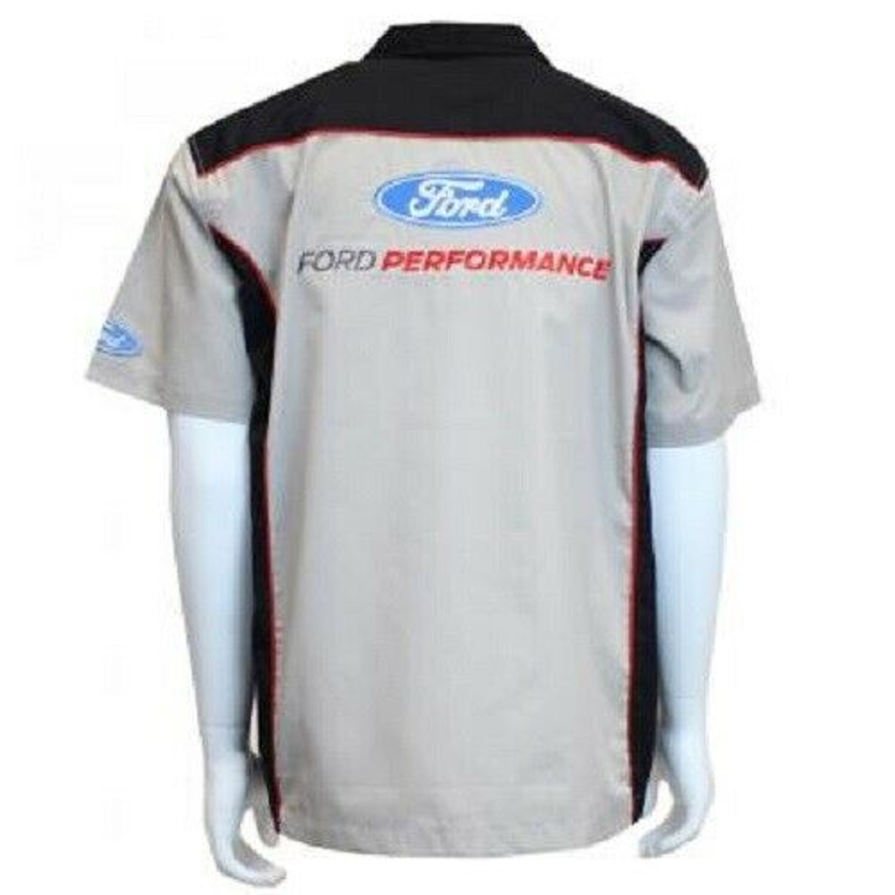 NEW CUSTOM DICKIES NAVY EMBROIDERED FORD MUSTANG GT LOGO MECHANIC WORK SHIRT