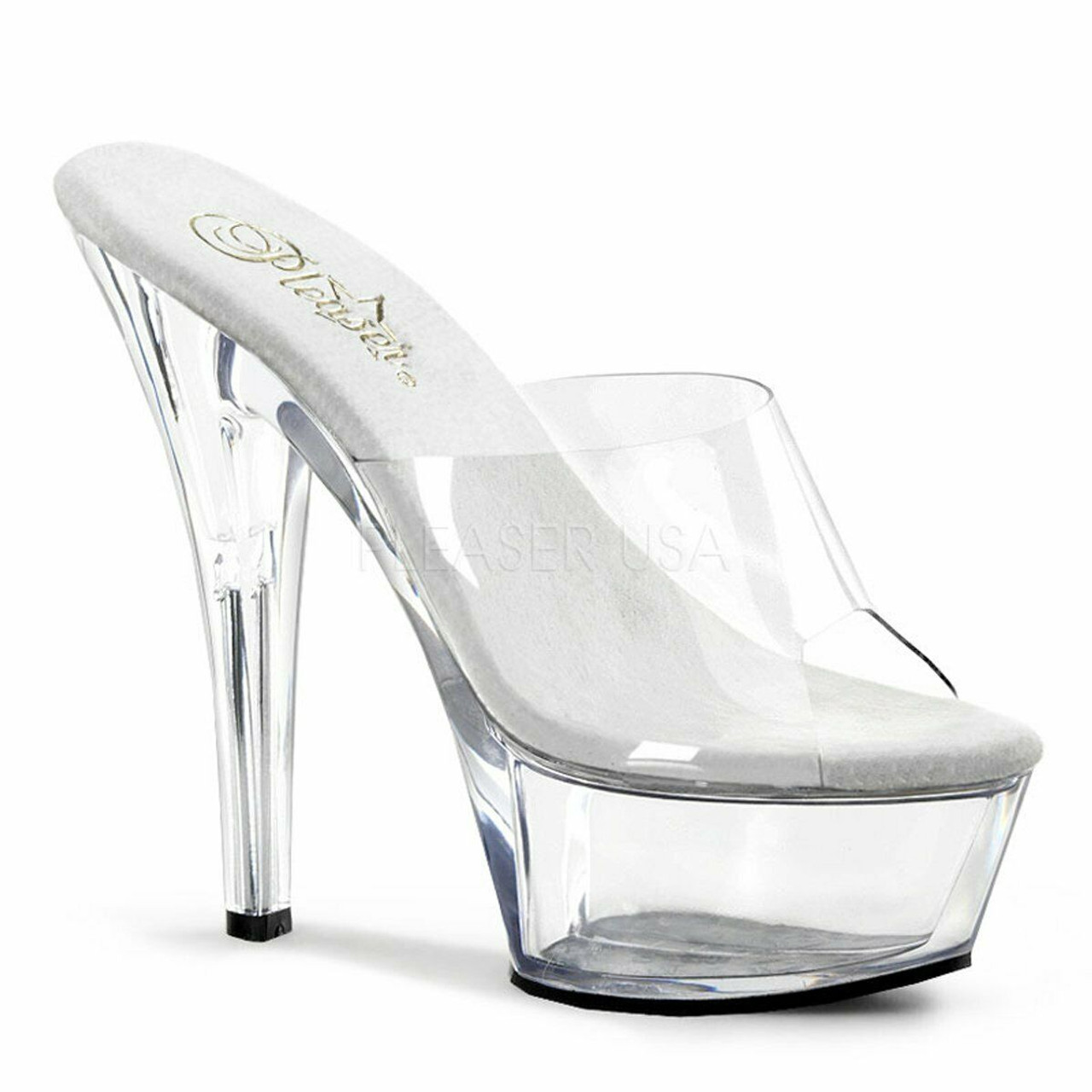 d46be37ee61 Pleaser Sexy Exotic Dancing Clear Slip On Platforms 6