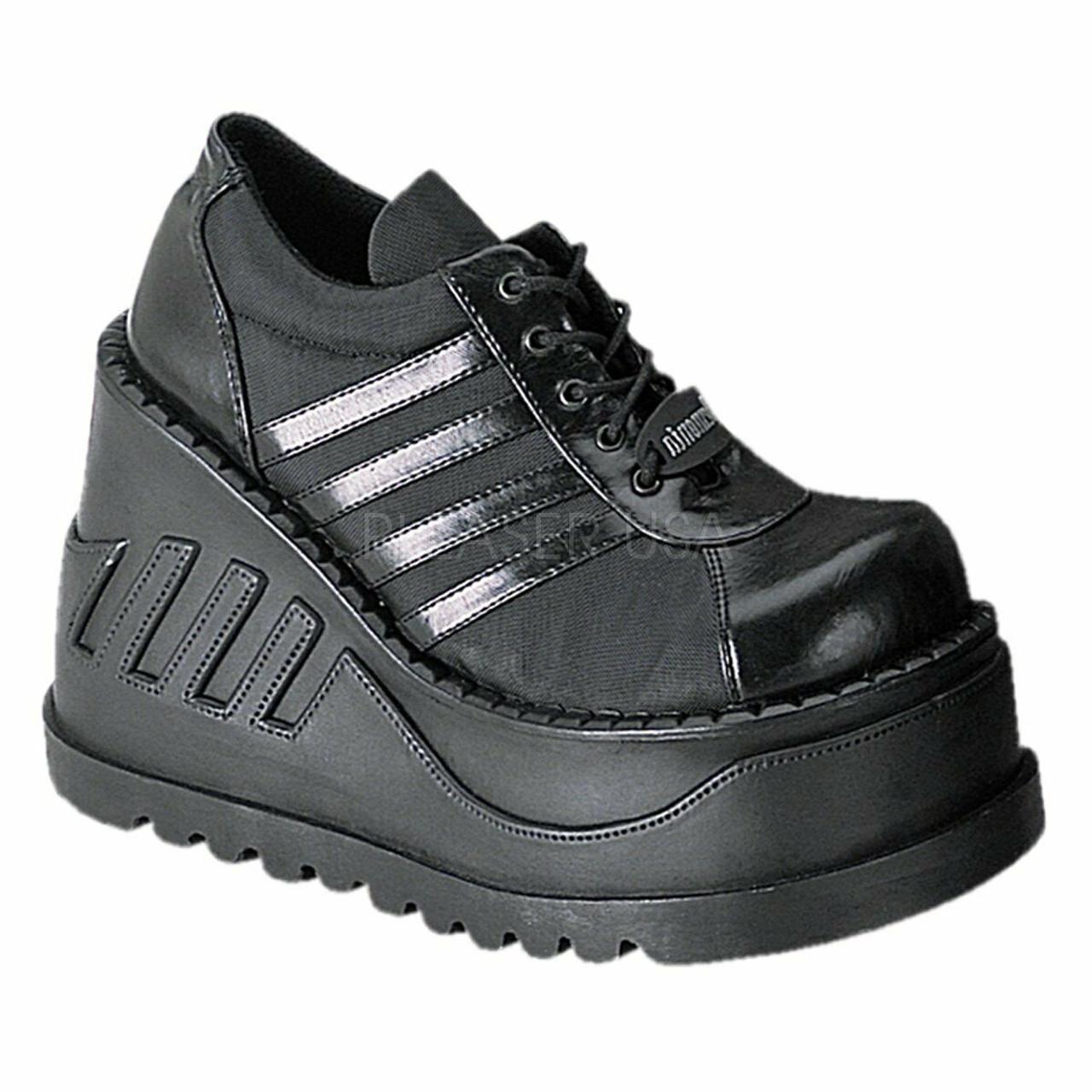 2439115d79e Demonia Cyber Gothic Punk Alternative Black Platforms Sneakers Shoes  Stomp-08