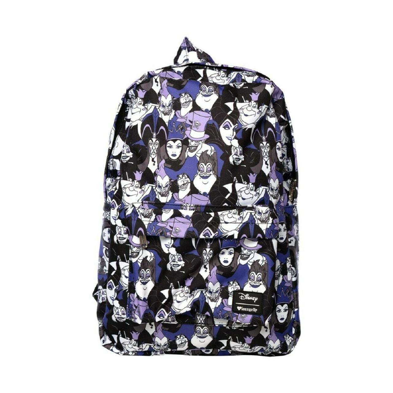 Loungefly Disney Villains Ursula Maleficent School Book Bag Backpack Wdbk0676