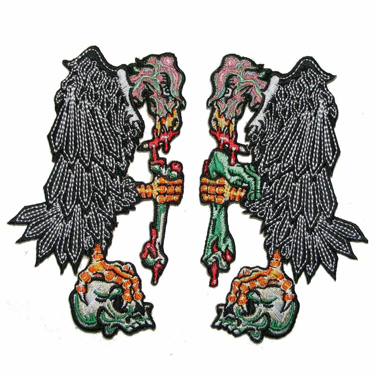 Kreepsville 666 Voodoo Goat Skull Embroidered Patch Horror Halloween NEW Goth