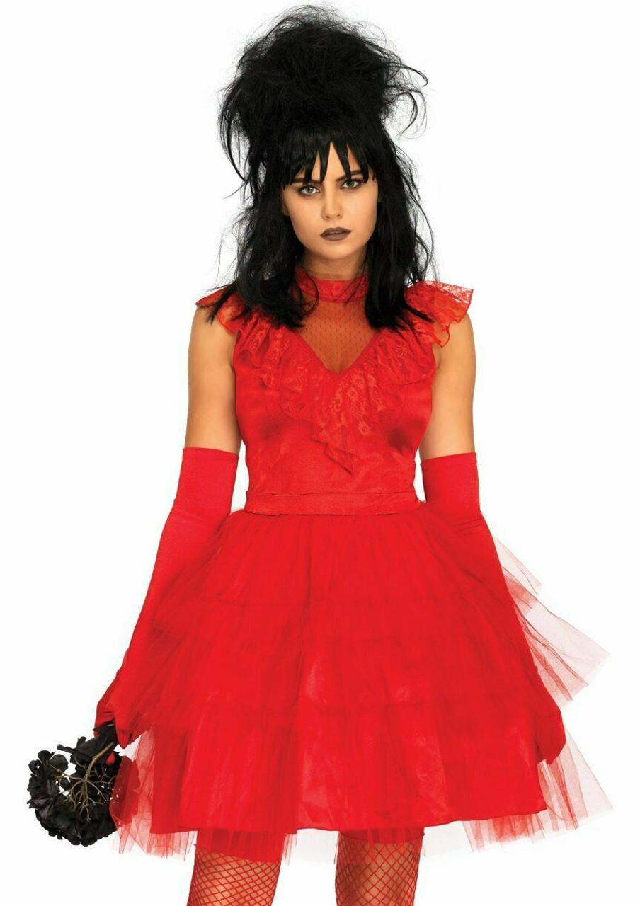 Jersey Dress Ghost Adult Women/'s Costume Black /& White Fancy Dress Leg Avenue