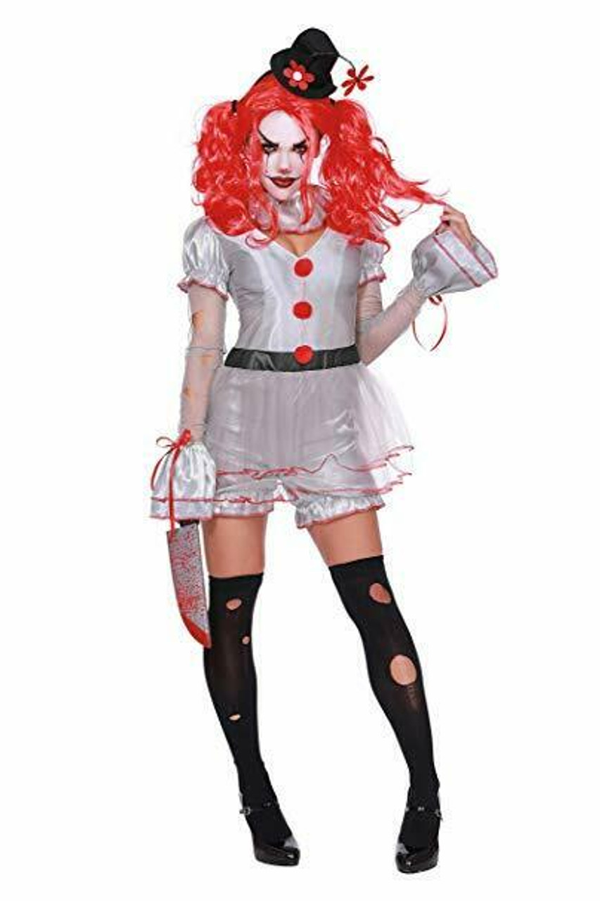 Dreamgirl Wicked Clown It Pennywise Sexy Adult Womens Halloween