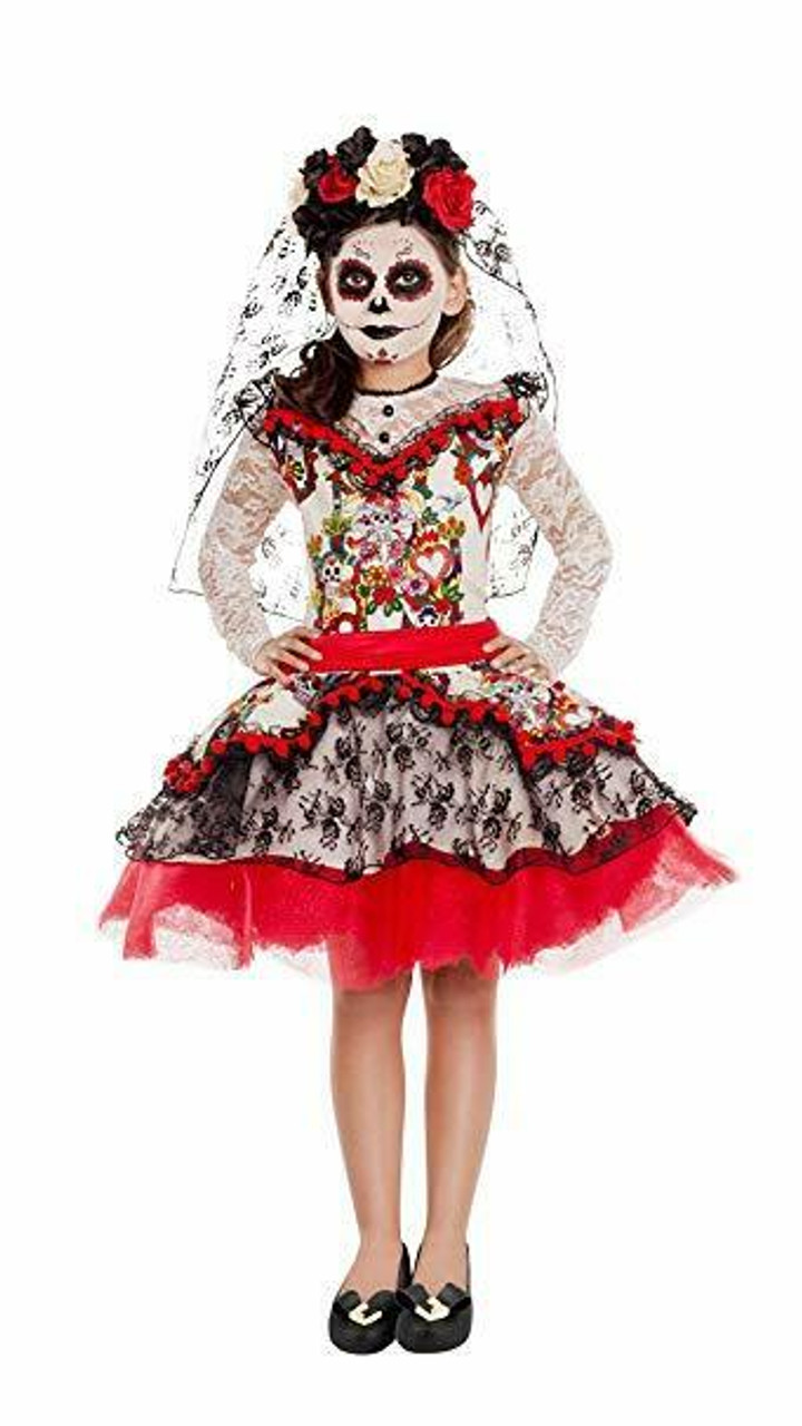 bba089c9b7f Party King La Novia Sugar Skull Day of the Dead Childs Halloween Costume  PK843C
