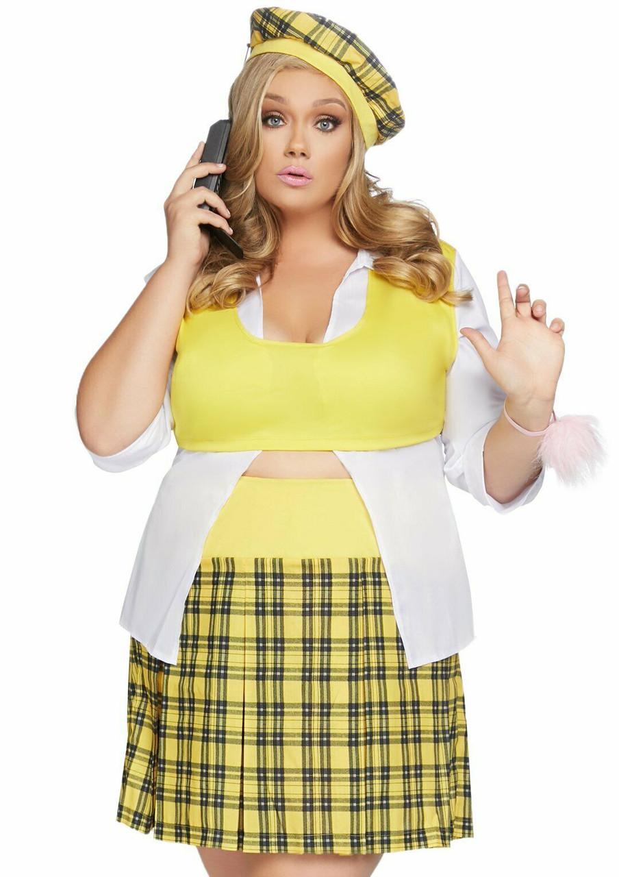 Leg Avenue Clueless Cutie Cher Movie Adult Plus Size Halloween Costume  86811X