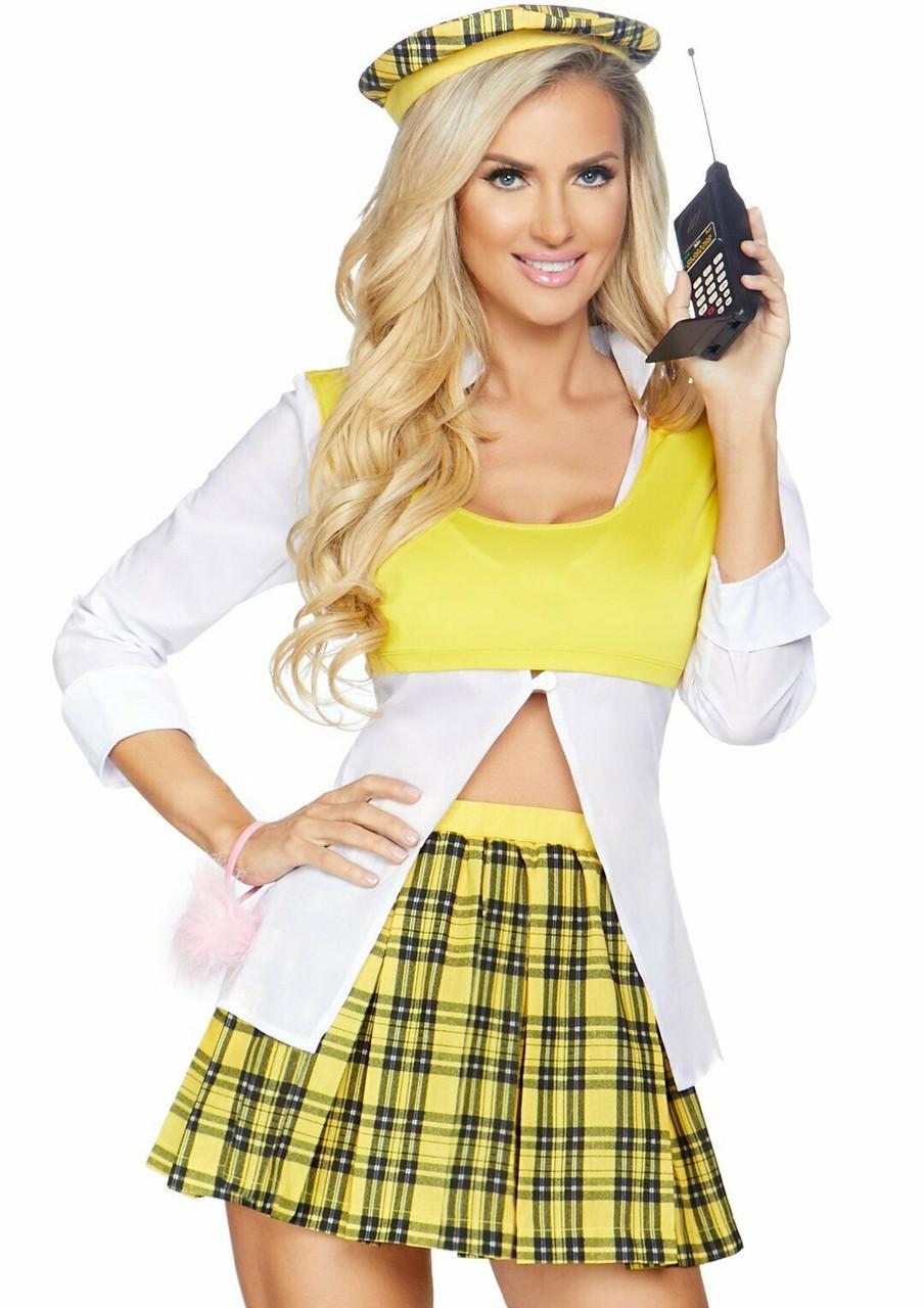 Leg Avenue Clueless Cutie Cher Movie Sexy Adult Womens Halloween Costume 86811 Fearless Apparel