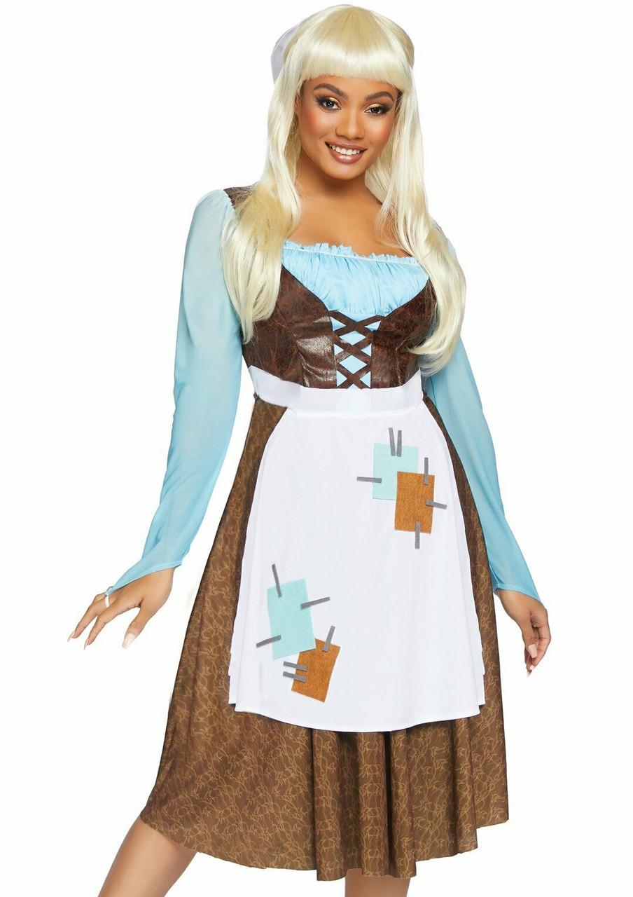 eef3fe23f6a Leg Avenue Peasant Cinderella Princess Adult Womens Halloween Costume 86854