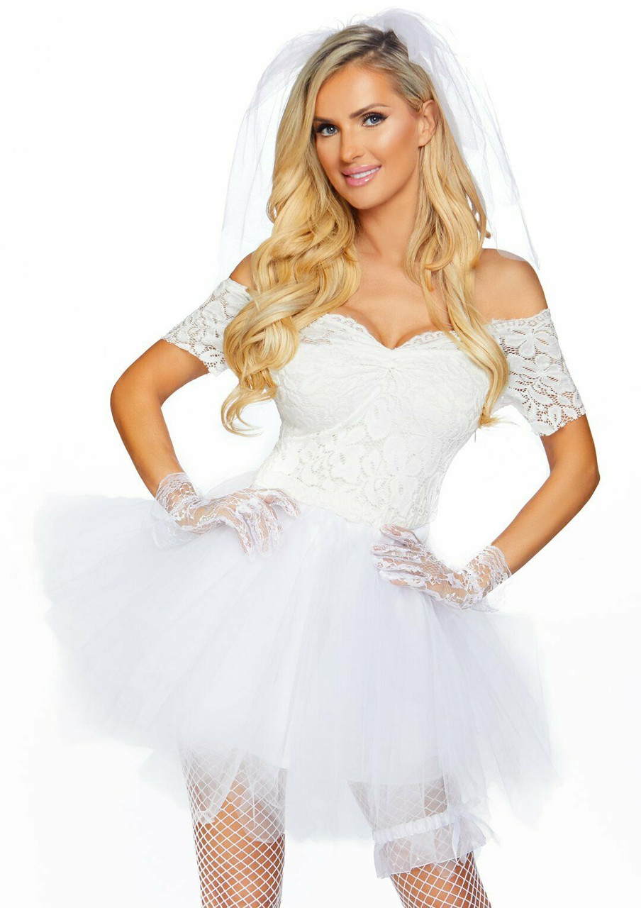 Leg Avenue Blushing Bride Tiffany Wedding Dress Adult Halloween Costume  86826