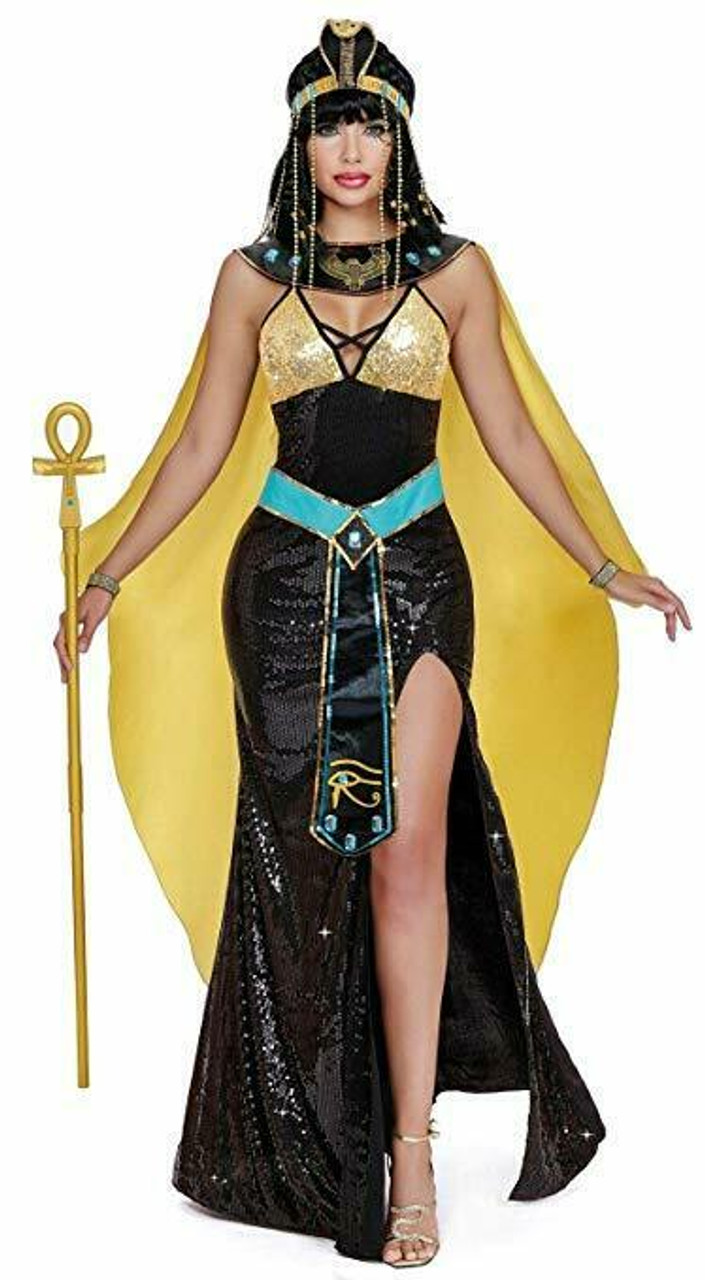 Halloween Costume 370.Dreamgirl Cleopatra Queen Egyptian Gown Adult Womens Halloween Costume 11588