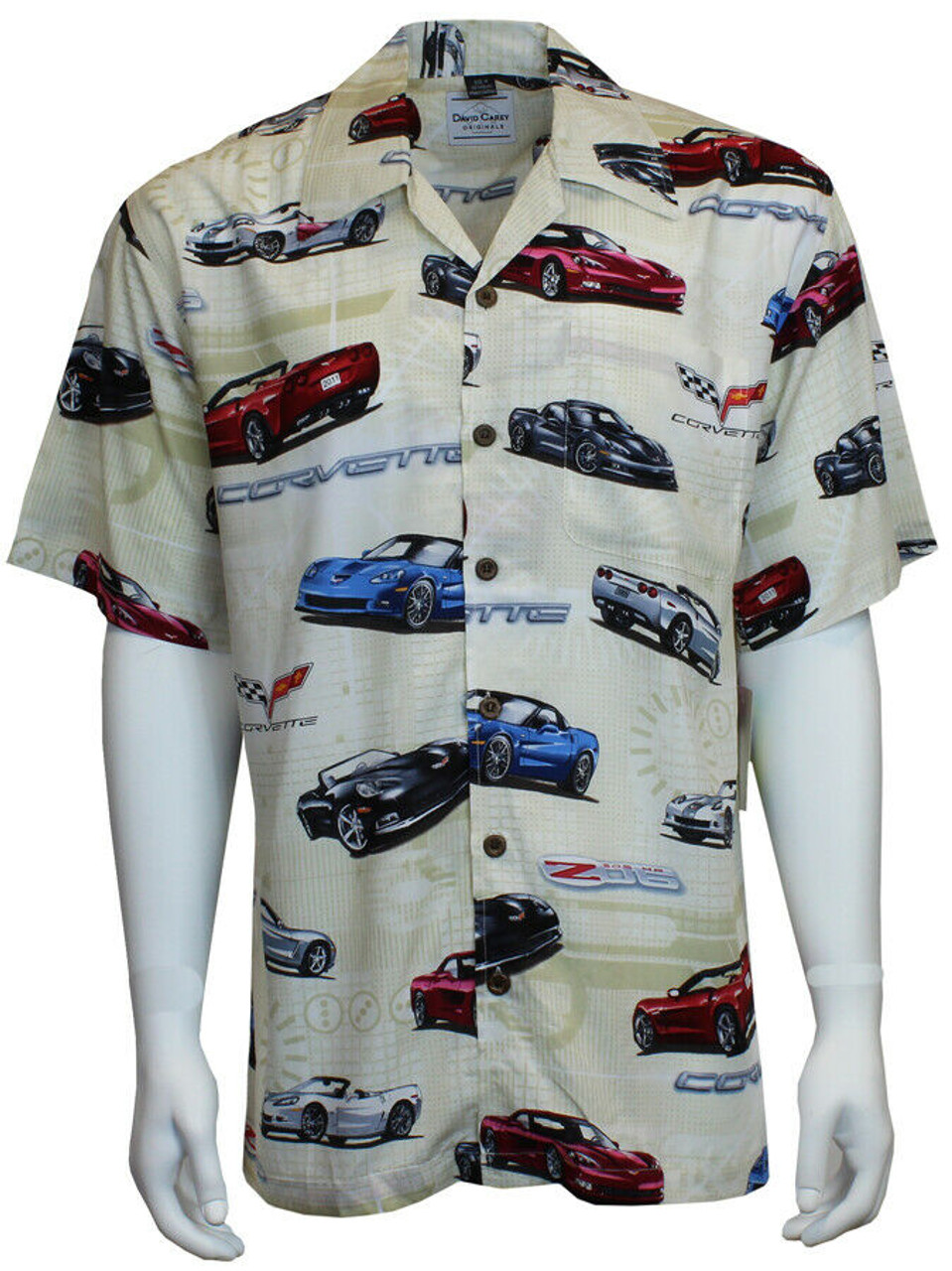 FORD CLASSIC 1940s CARS HAWAIIAN CAMP SHIRT NEW David Carey CLEARANCE SALE