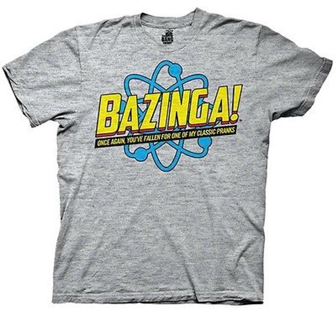 The Big Bang Theory Bazinga Comic Book Cover Authentic T-Shirt