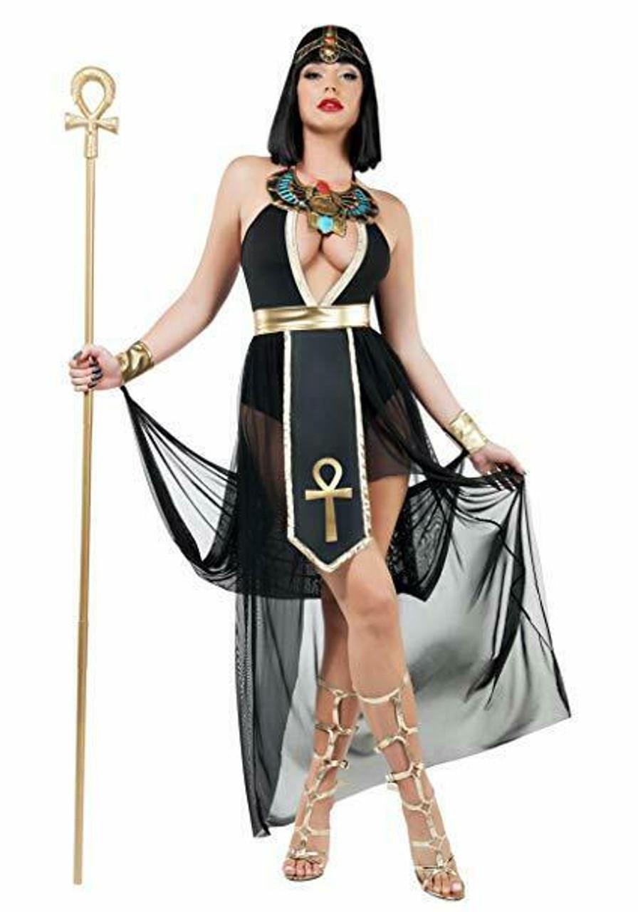 Adult Womens Egyptian Goddess Ancient Pyramid Cleopatra Halloween Costume