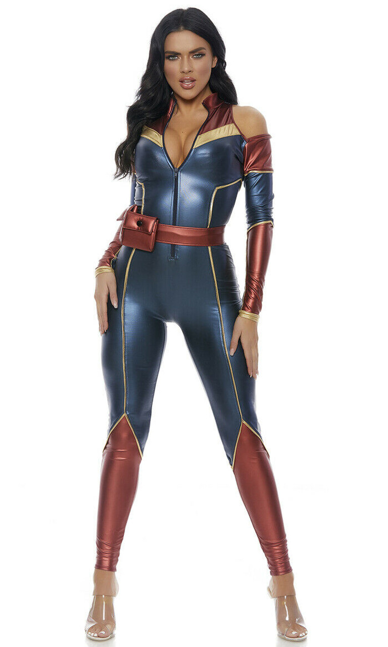 Forplay Space Soldier Superhero Captain Marvel Adult Halloween Costume 559610 Fearless Apparel This costume is much like her current suit, with one big difference. forplay space soldier superhero captain marvel adult halloween costume 559610