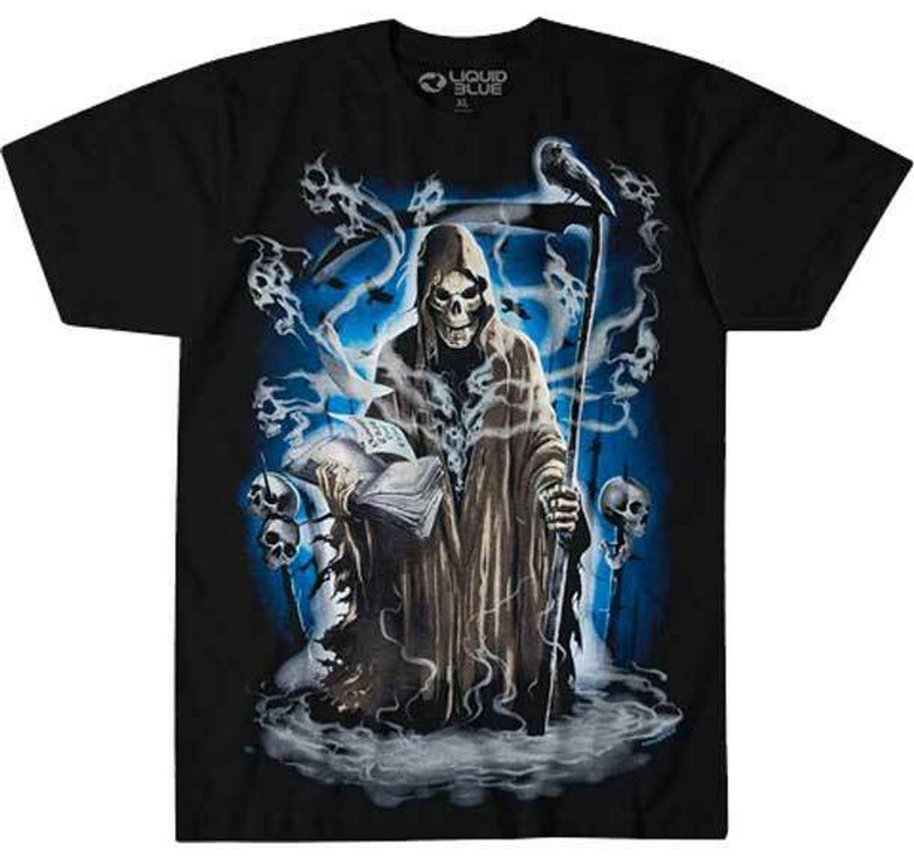 SPIRAL DIRECT DANCE OF DEATH T-Shirt//Biker//Skull//Reaper//Goth//Darkwear//Top//Tee