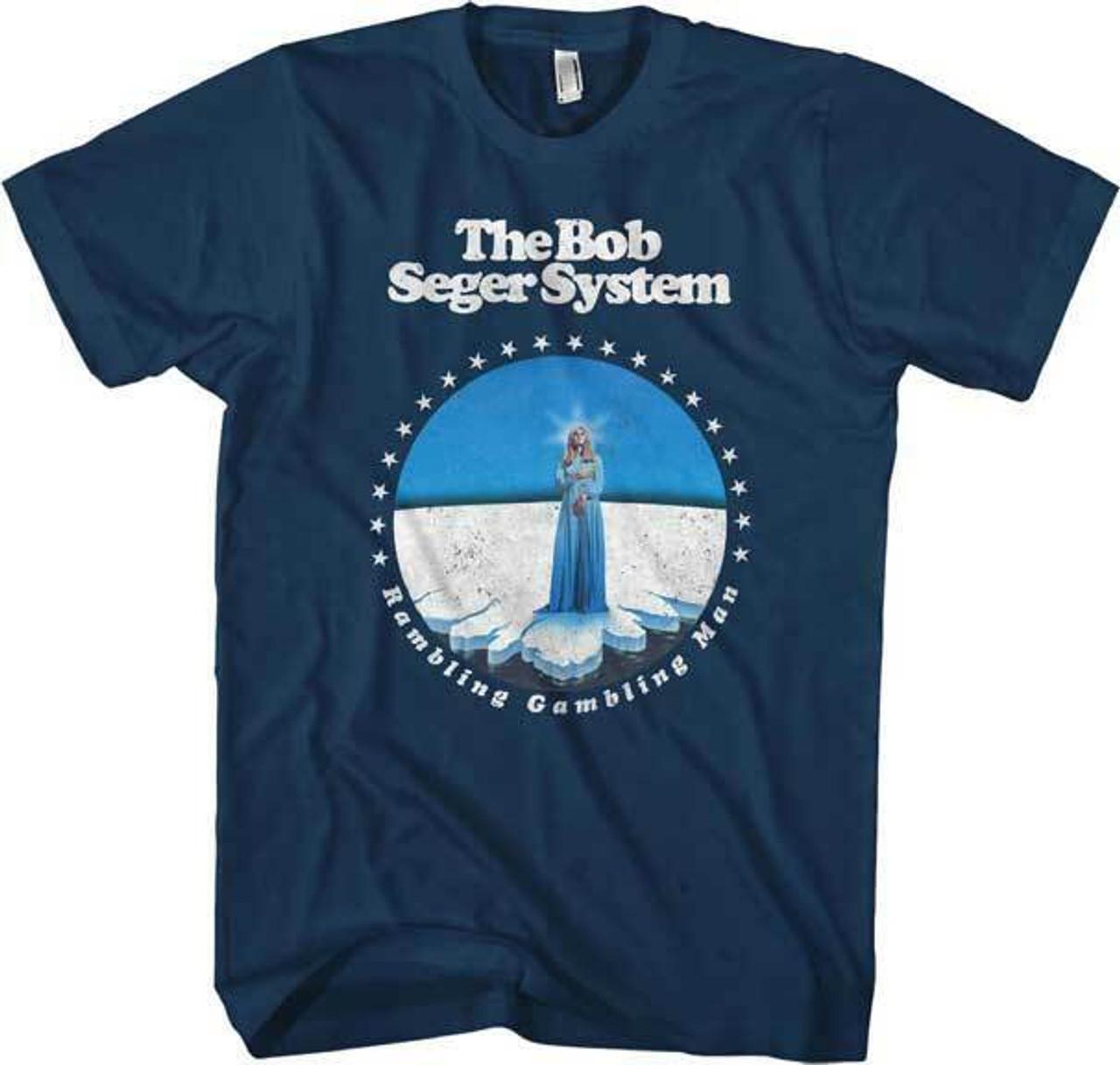 Bob Seger Famous Singer Runaway Train Tour Mens White T-Shirt Size S to 3XL