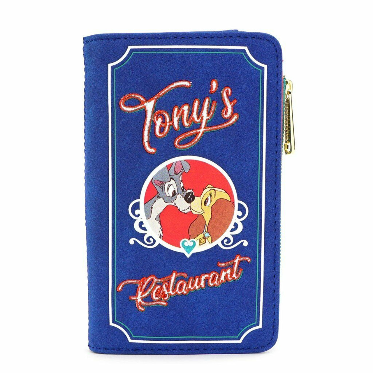 Loungefly Disney The Lady And The Tramp Tonys Dogs Menu Clutch Wallet Wdwa1163 Fearless Apparel