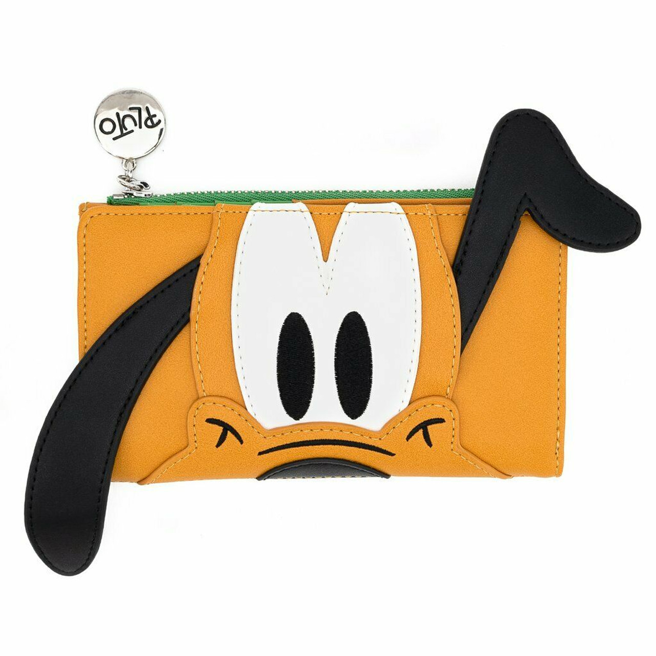 Loungefly Disney Mickey Mouse Black /& White Photo Faux Leather Flap Wallet