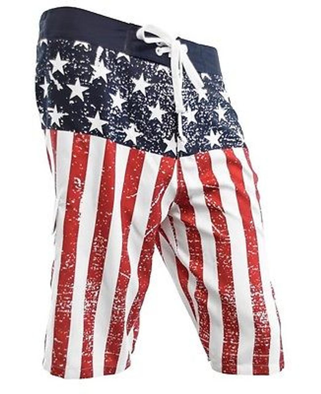 USA American Flag Mens Board Shorts Swim Trunks Patriotic Stars /& Stripes M-2XL