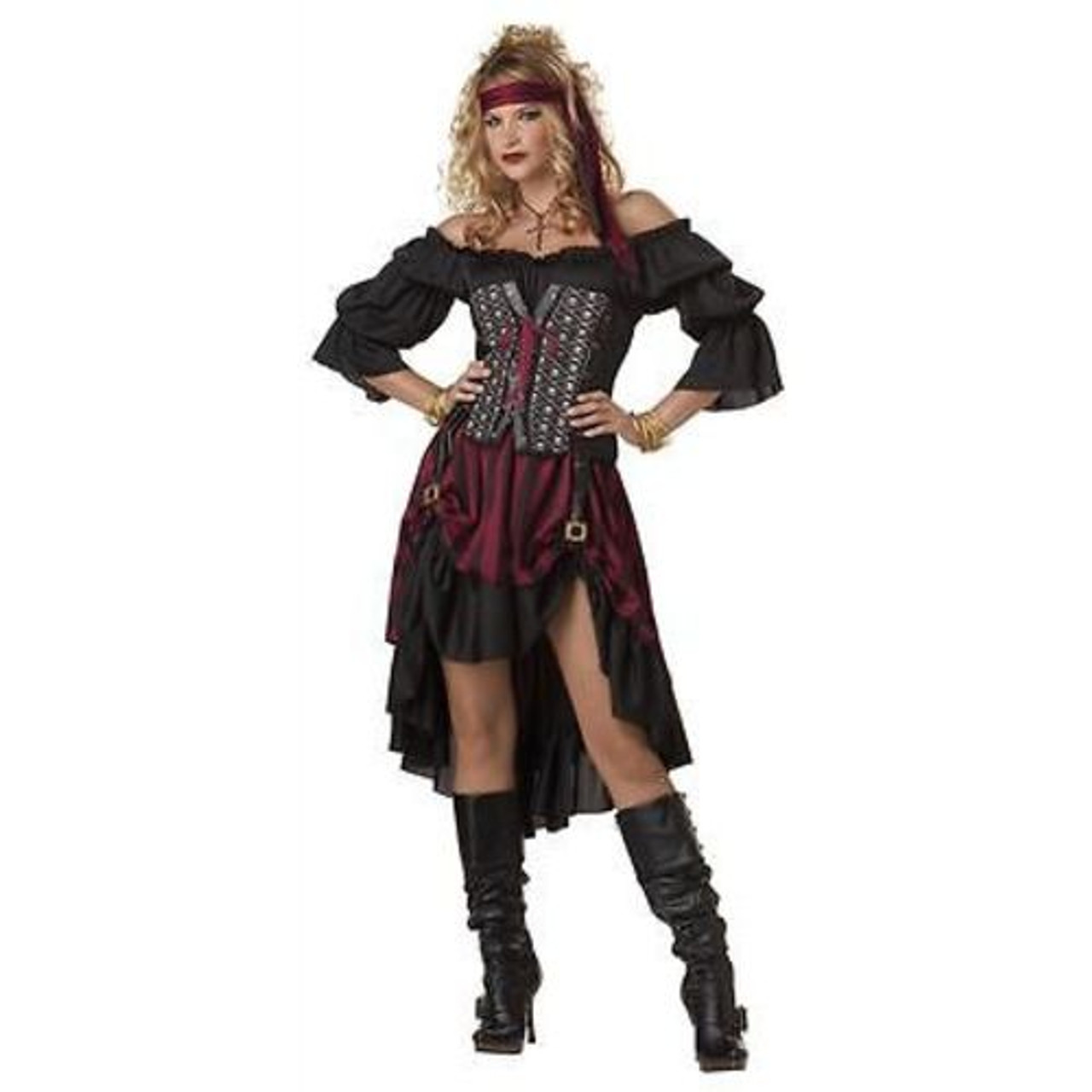 ADULT WOMENS PIRATE WENCH SAILOR SWASHBUCKLER HALLOWEEN COSTUME COSPLAY  XS-XXL
