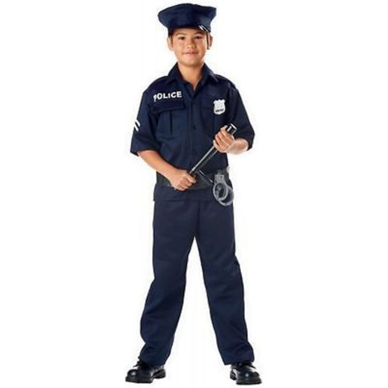 CHILDRENS POLICE OFFICER UNIFORM COP DETECTIVE BADGE HALLOWEN KIDS COSTUME  XS-L e559e54b60dd