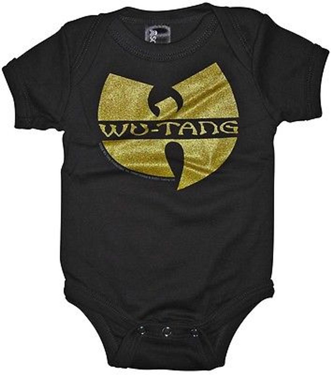 SOURPUSS WU-TANG LOGO RAP HIP HOP MUSIC BABY INFANT KIDS ROMPER ONE PIECE PUNK
