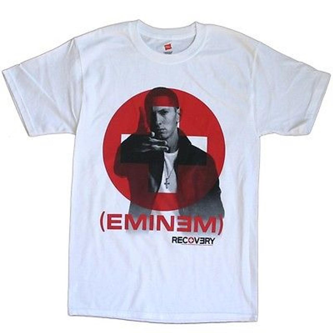 Authentic EMINEM Red Logo Berzerk Slim Shady T-Shirt S M L XL XXL NEW