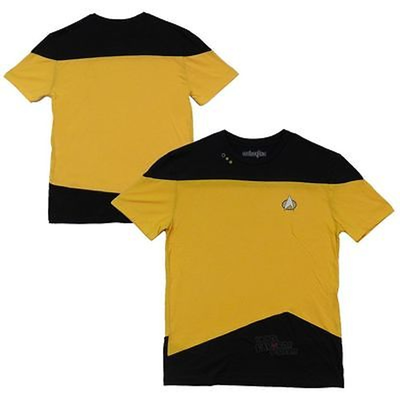 Star Trek The Next Generation TNG Command Cosplay Costume Yellow Shirt For Fans