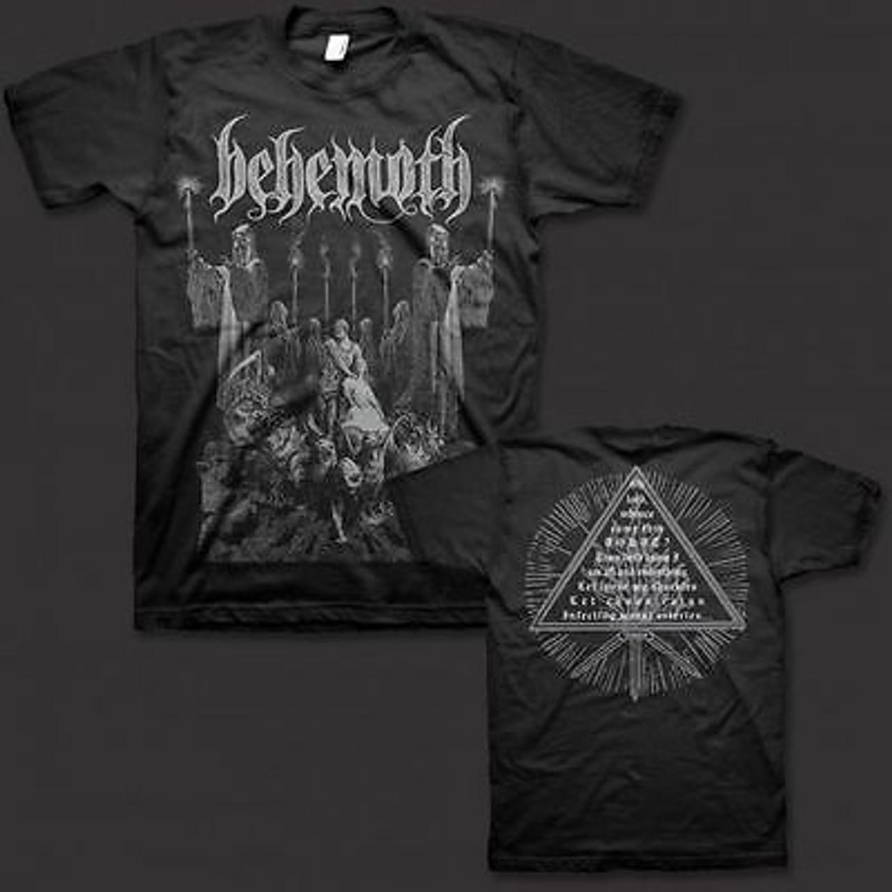 New Behemoth Metal Rock Band Men/'s White T-Shirt Size S-3XL