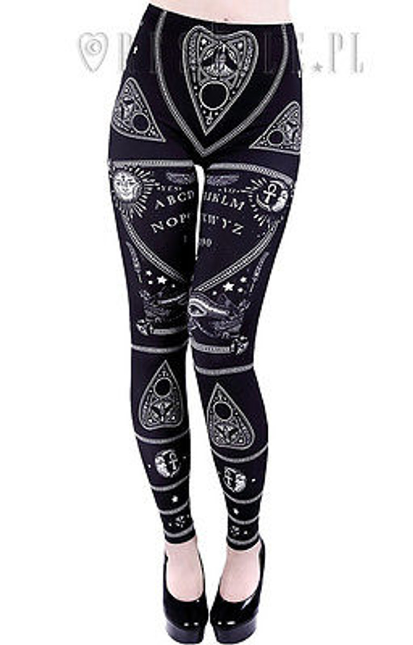 SKELETON LEGGINGS bones trousers horror pants by Restyle Rock Emo Goth Punk