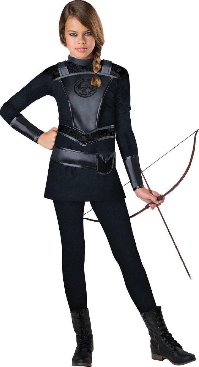 InCharacter Warrior Huntress Tween Girls Punk Movie Halloween Costume 18086