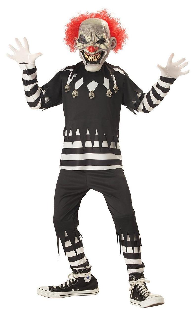 California Costumes Creepy Clown Glow Mask Circus Boys Halloween Child 00299