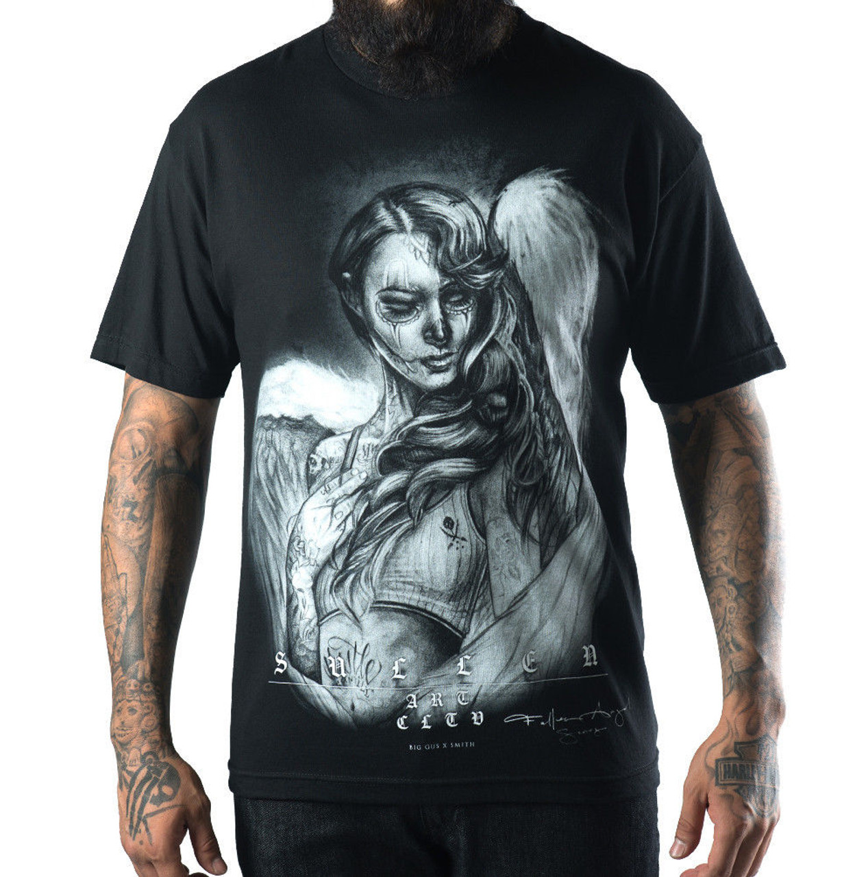 80e39616f0 Sullen Clothing Fallen Love Ryan Smith Big Gus Tattoo Mens T Tee Shirt  SCM0097