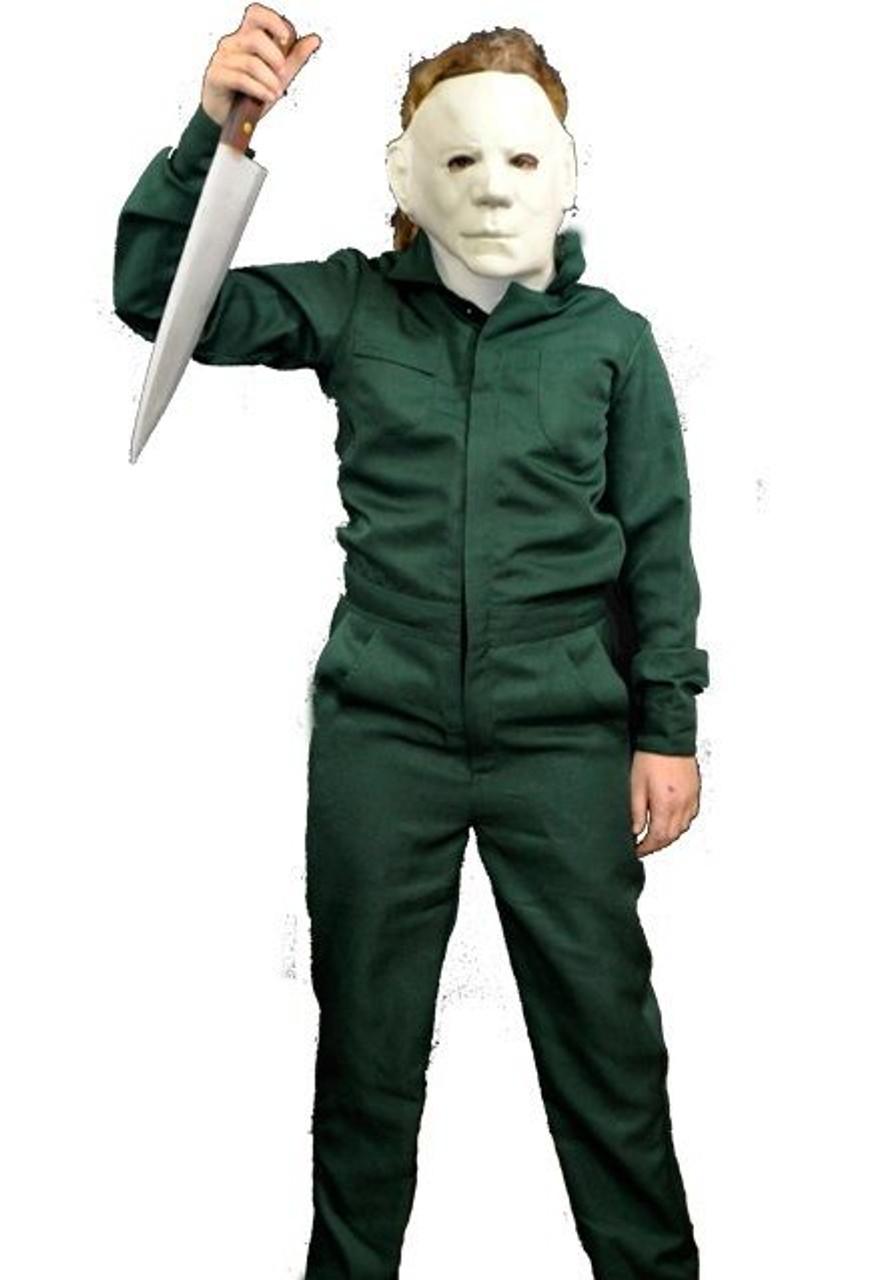 Halloween Michael Myers Costume.Trick Or Treat Child Halloween 2 Deluxe Coveralls Michael Myers Costume Ttus123
