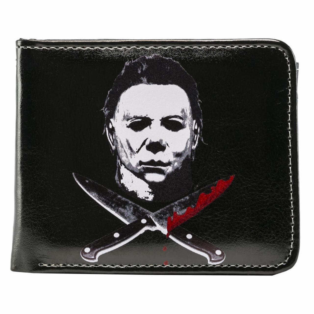 d2223142 Rock Rebel Michael Myers Cross Knives Halloween Scary Movie Mens Bifold  Wallet - Fearless Apparel