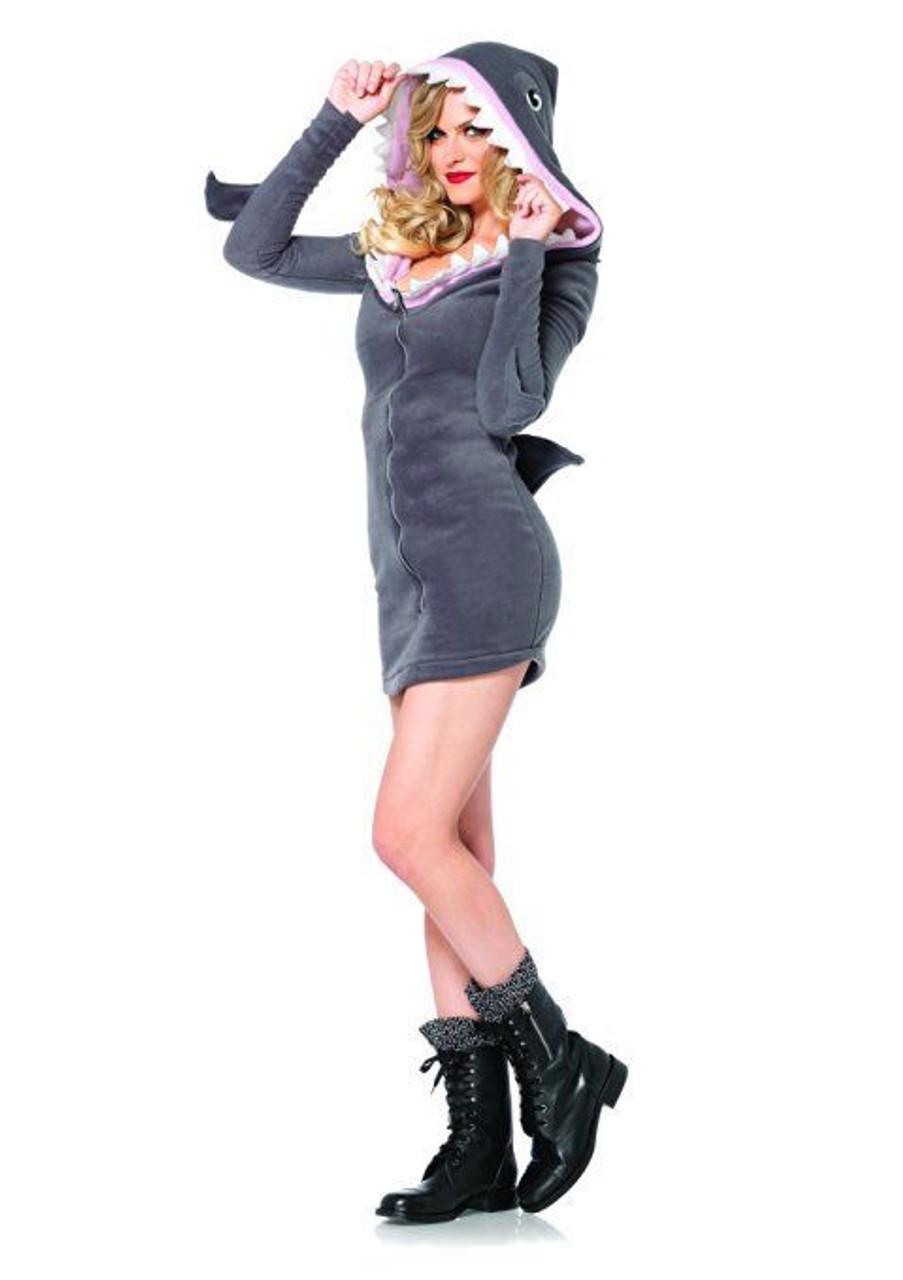 5dc1f847ab73e Leg Avenue Cozy Shark Adult Womens Sexy Animal Sea Ocean Halloween Costume  85312