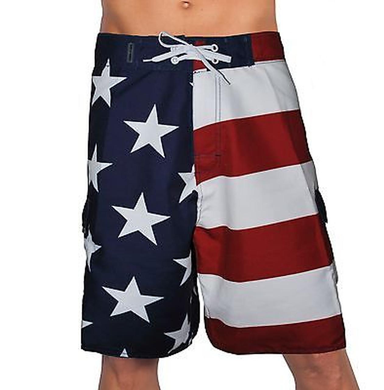 ca87f32fbd Usa American Flag Patriotic Board Shorts Freedom Army America Swim Trunks -  Fearless Apparel