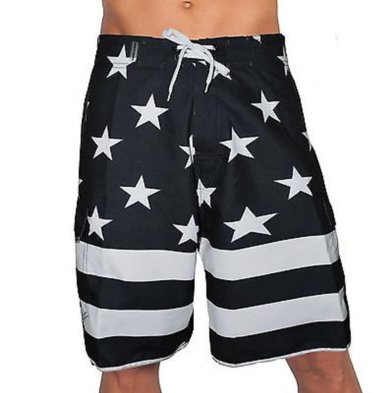 f866bd651500 Usa American Black Flag Patriotic Board Shorts Freedom Army America Swim  Trunks