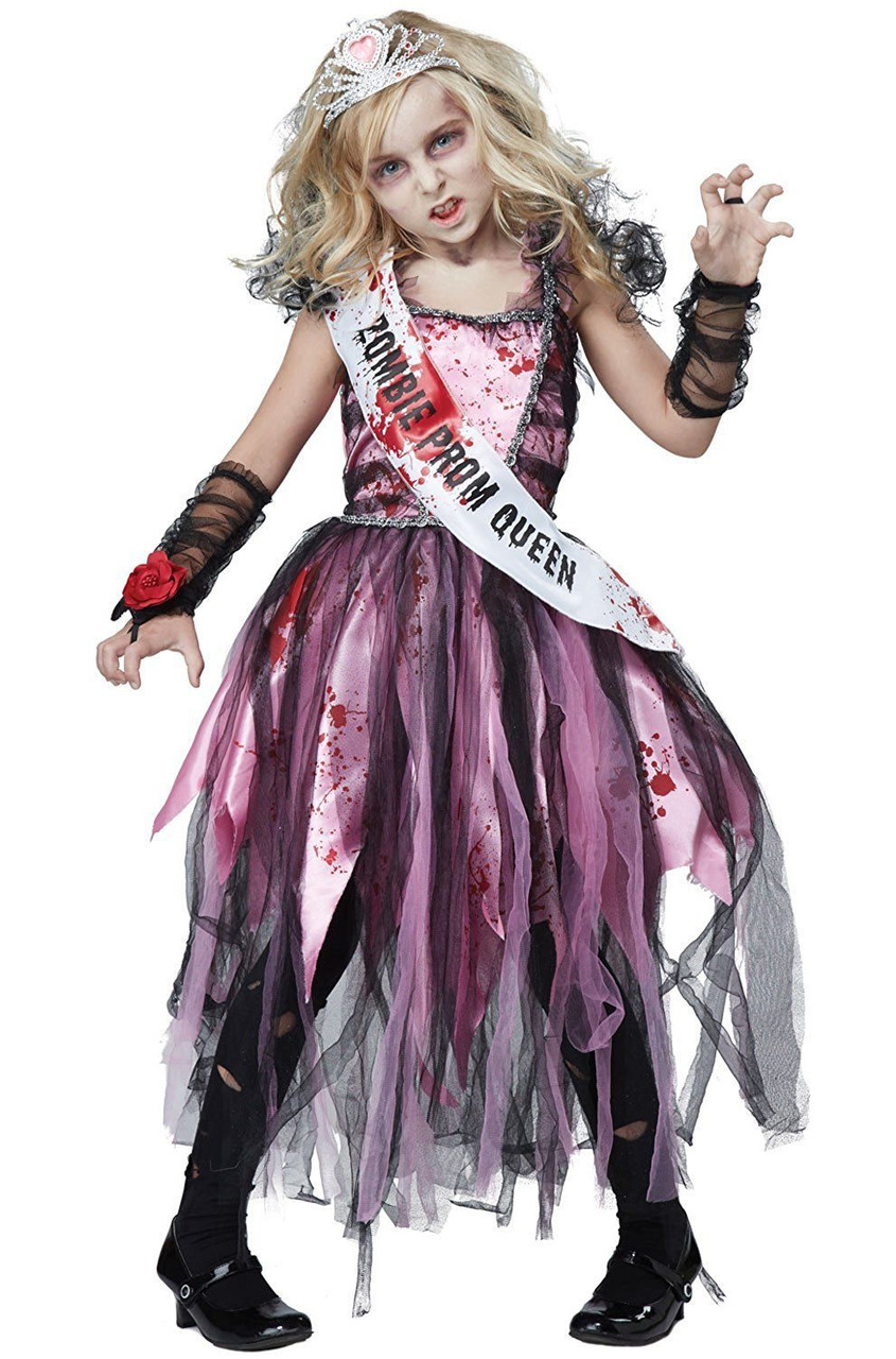 Zombie Prom Queen Costume for Girls