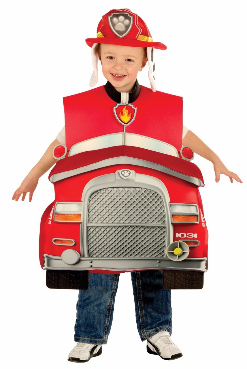 Halloween Costume 303.Rubies Paw Patrol Marshall Deluxe Fire Truck Child Boys Halloween Costume 610837