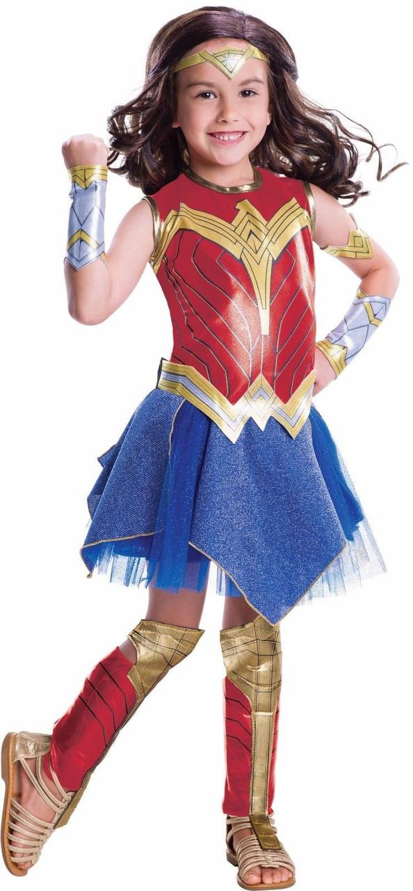 d949ae601 Rubies Deluxe Wonder Woman DC Comics Kids Childs Girls Halloween Costume  640067
