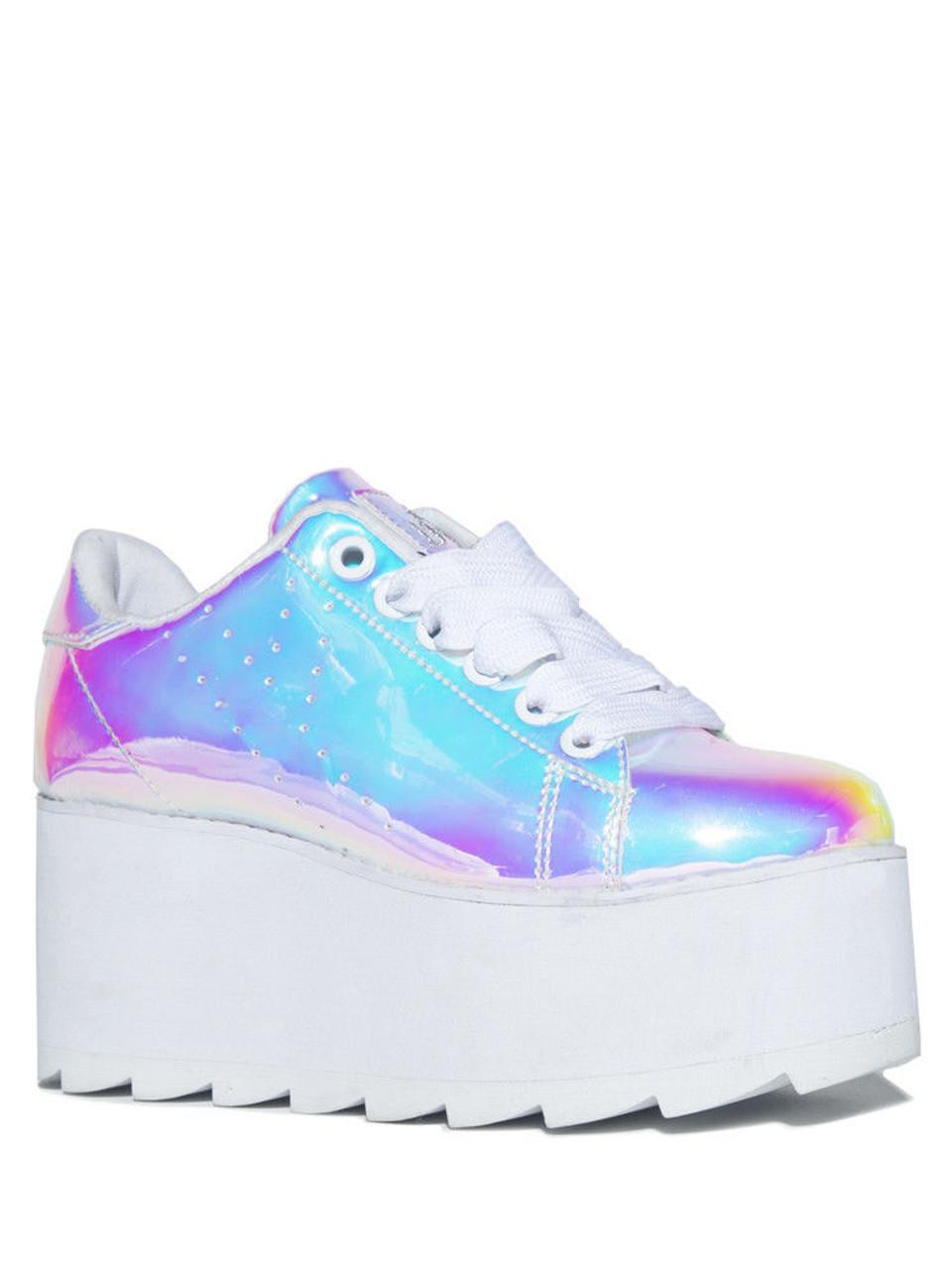 the latest 14b51 de2c3 YRU Lala Atlantis Emo Punk Goth Kawaii Adult Womens Platform Shoe Sneaker