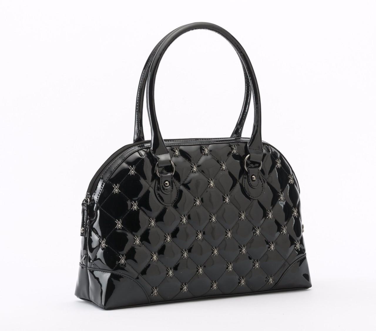 Rock Rebel GG Rose Lucy Quilted Handbag Spiders